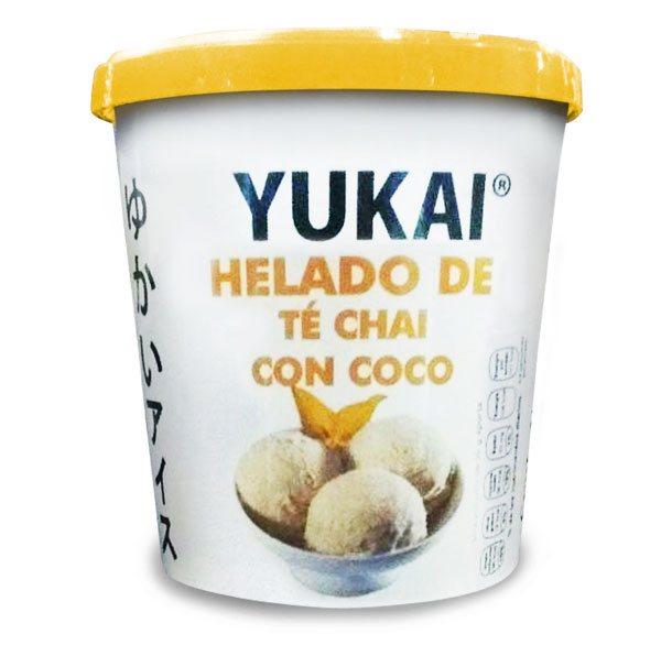 Helado de Té Chai con Coco - YUKAI® - Productos Orientales